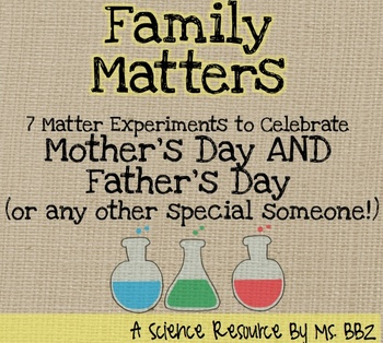 Mother's Day Matter Craftivities {Solids, Liquids, and Gases}