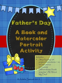 """Father's Day Portrait Art Lesson and """"All About My Dad"""" Wr"""