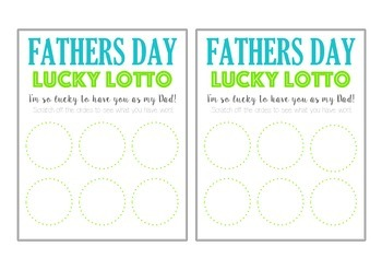 Fathers Day Scratch Card