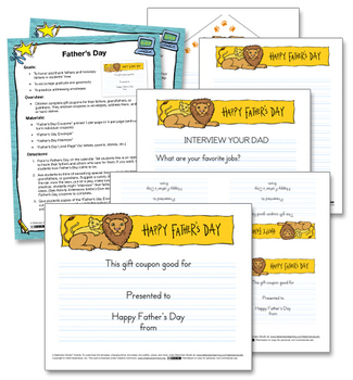 Father's Day Writing Activity & Printable Templates