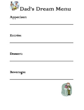 Father's Day Writing Fun Booklet