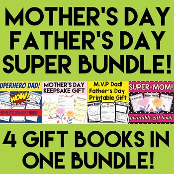 Father's Day and Mother's Day Gift Book Bundle - Grades K-
