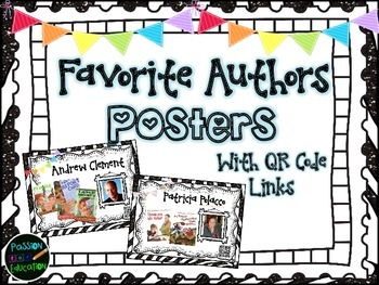 Favorite Author Posters (QR Code to Author's Site)