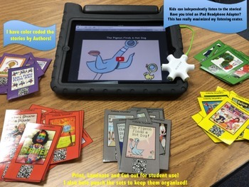 QR Codes-Favorite Authors~Listening Center with a Twist~40