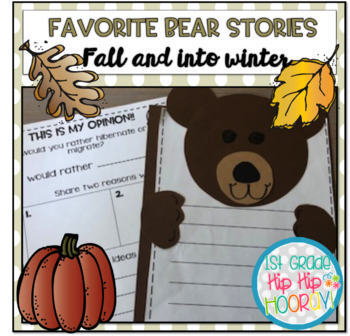 Favorite Bear Stories for Fall and Into Winter!