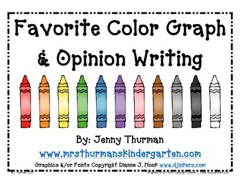 Favorite Color Graph and Opinion Writing