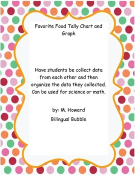 Favorite Food, Tally, graph, classify