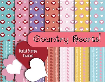 Favorite Hearts and Stripes in Country Colors • Scrapbook