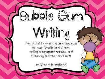 Bubble Gum Writing (Favorite Gum Paragraph)