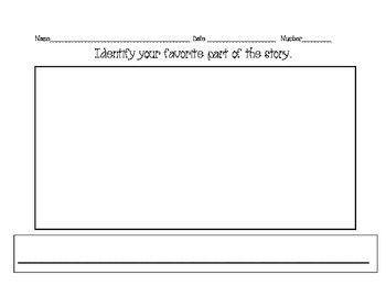 Favorite Part of the Story Exit Slip