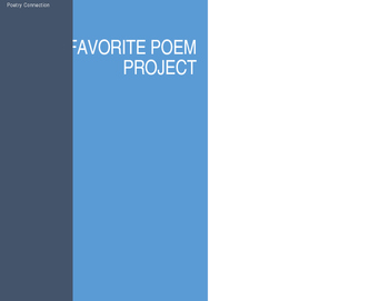 Favorite Poem Project