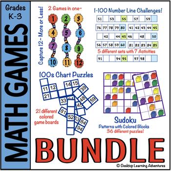 Primary Math Center Games Bundled!