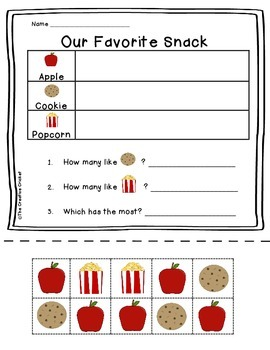 Favorite Snack Cut and Paste Pictograph