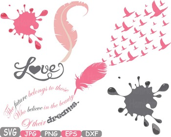 Feathers Dream Love clip art flying birds lyrics memorial