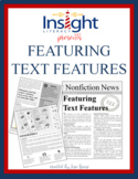 Featuring Text Features Nonfiction Newsletter Reading Sele
