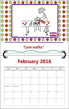 February 2016 ( A 1-Month Inspirational Calendar for Teachers)