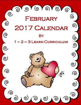 February 2016 Kids Calendar