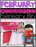 February Academic Sensory Bin