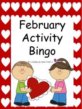 February Activity Bingo