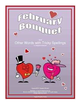 February Bouquet:  A Vocabulary/Spelling Brain Teaser