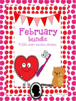 February Bundle- 9 100 Chart Mystery Pictures