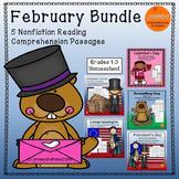 February Bundle: Reading Comprehension Passage For Grades 1-3