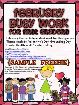 February Busy Work {FREEBIE}