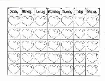 February Calendar (Blank dates)