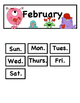 Feb. Calendar Cards: Great For Regular or Small Sized Calendars