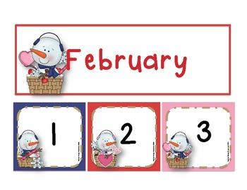 February Calendar Number Set *Freebie