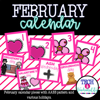 February Calendar Pieces - White Set
