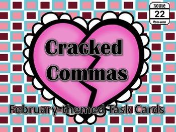 Parenthetical Commas Task Cards {February}