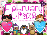 February Craze No Prep Math and Literacy Activities