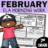 February Daily Language (2nd Grade) -  morning, homework o
