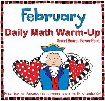 February Daily Math Warm-Up (1st Grade Common Core)
