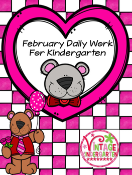 February Daily Work for Kindergarten