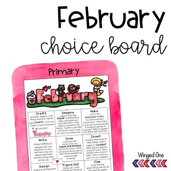 February Early Finishers: Choice Board