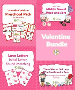 February Early Learning Activities Bundle