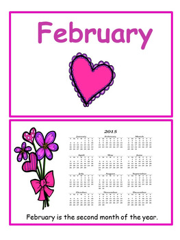 February Flip Book for early readers