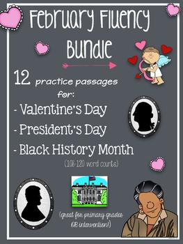 February Fluency Bundle  (Valentine's Day, President's Day
