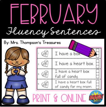 February Fluency Strips