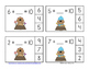 February Friends of 10 Addition Clip Cards