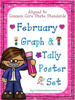 February Graph and Tally Poster Set: February Pictures