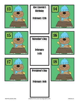 February-Groundhog Day-Calendar Pieces