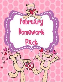 February Homework Pack