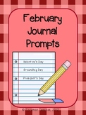 February Journal Prompts - Groundhog Day, Valentine's Day,