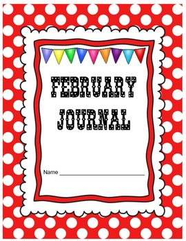 February Journal Prompts Printable Notebook Common Core W.