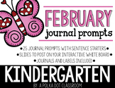 February Journal and Prompts {Kindergarten}