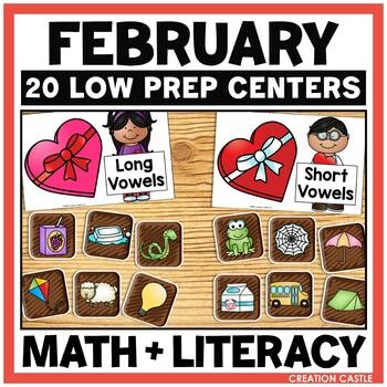 February Kindergarten Centers - Math and Literacy