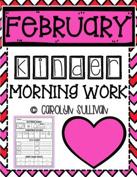 February Kindergarten Literacy Morning Work